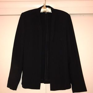 Eileen Fisher black open jacket.  Italian fabric
